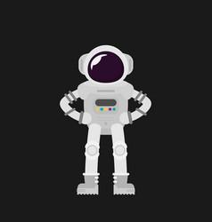 flat design astronauts vector image