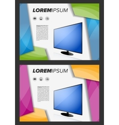 Flayer template with LED TV vector