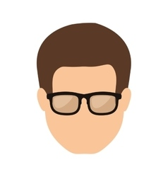 Front face man with brown hair vector