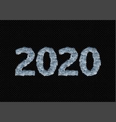 frozen 2020 figures template vector image