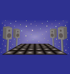 Futuristic dance night party space vector