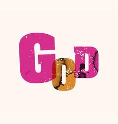 god concept stamped word art vector image