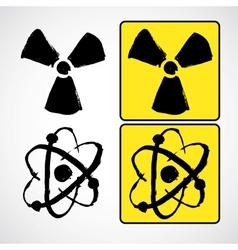 Grunge radioactive symbol vector image