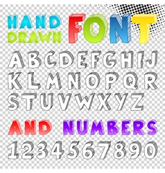 Hand drawn sketch font vector image