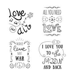 Hand-lettered vintage st valentines card vector
