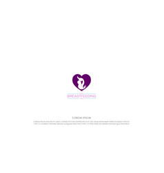 heart love mother mom lactating baby for world vector image