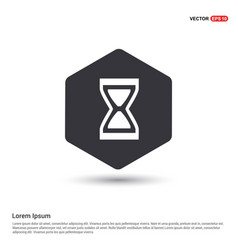 hourglass icon hexa white background icon template vector image