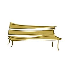 Icon bench vector