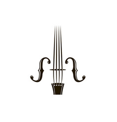 Icon of violin vector