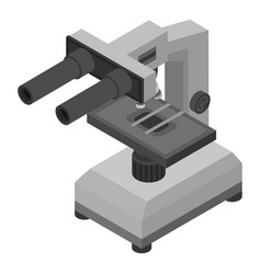 laboratory microscope icon isometric style vector image