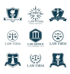 Law Company 9 vector image