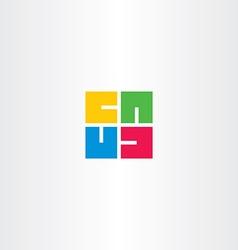 letter u square rotation logo vector image