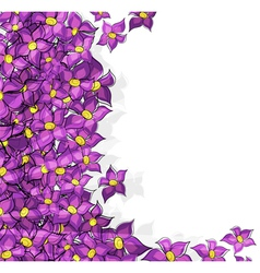 Lilac Flowers background vector image