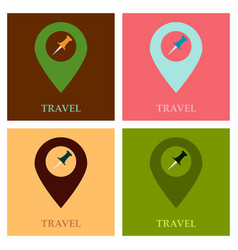 Location icon pin sign isolated on white vector