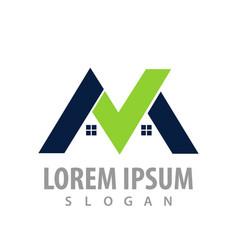 logo concept design real estate home symbol vector image
