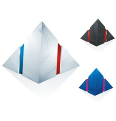 Logo pyramid set vector