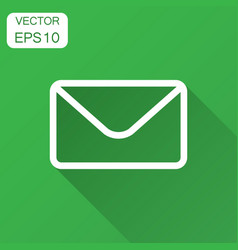 mail envelope icon in flat style receive email vector image