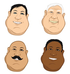male heads fat vector image