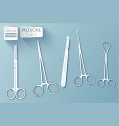 Medical tools set vector
