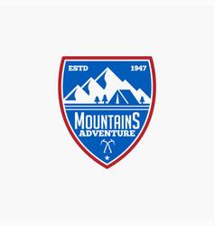 Mountains logo-badge-14 vector