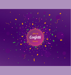 new year 2019 card confetti colorful bright vector image
