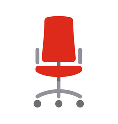 office red chair simple flat style icon vector image