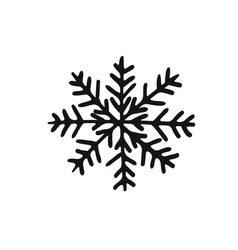 painted cute snowflake silhouette symbol of vector image