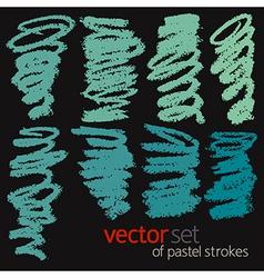 Pastel strokes set 4 vector image