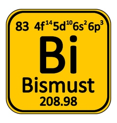 Periodic table element bismuth icon vector