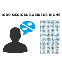 Person Arguments Icon with 1000 Medical Business vector image vector image