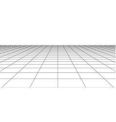 Perspective wireframe landscape vector