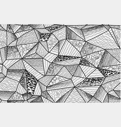 Polygonal entangle seamless pattern vector