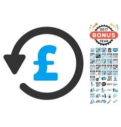 Pound Rebate Icon With 2017 Year Bonus Symbols vector