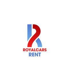 r letter icon for royal cars rent vector image