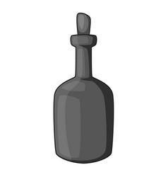 retro green wine bottle icon monochrome vector image