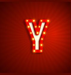 Retro style letter y vector