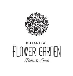 Rose bush silhouette vector image