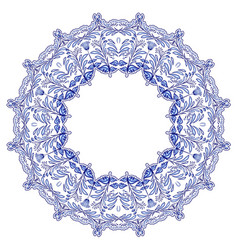 round floral frame in the style of ethnic mandala vector image