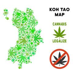 Royalty free marijuana leaves composition koh tao vector