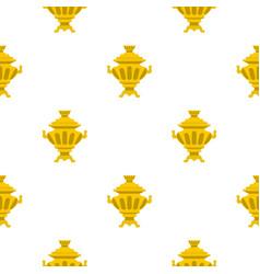 Samovar pattern flat vector