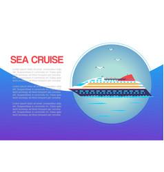 sea cruiser in ocean marine travel vacation vector image