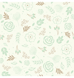 Seamless floral green vector