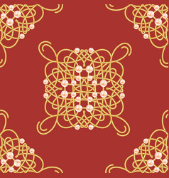 seamless pattern with ellegant golden sign vector image