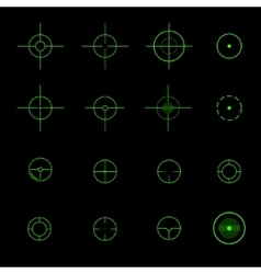 set different crosshairs vector image