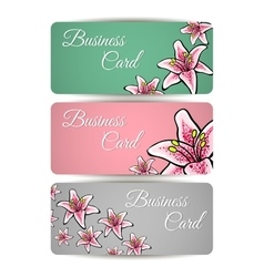 SetBusinessCards vector image