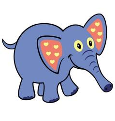 simple childish elephant vector image