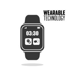 Smart watch wearable technology vector