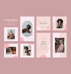 Social media template blog fashion sale promotion vector