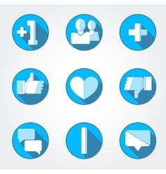Social net icons set vector image
