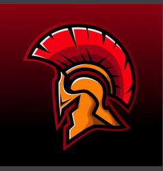 spartan head mascot vector image